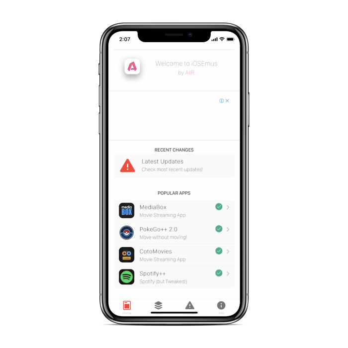 iOSEmus App Installer for iOS ( iPhone / ipad )